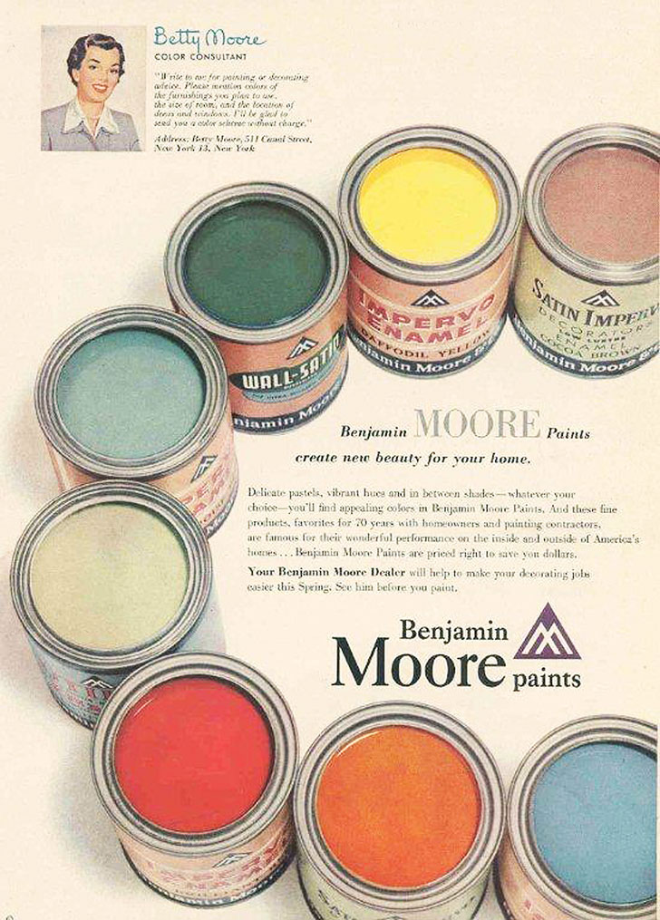 Betty-Moore-color-consultant-benjamin-moore-1950s