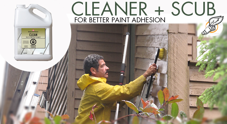 Pressure Wash With Benjamin Moore Cleaner House Painting