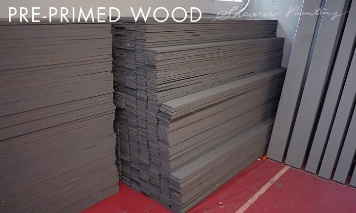 Pre-primed-wood