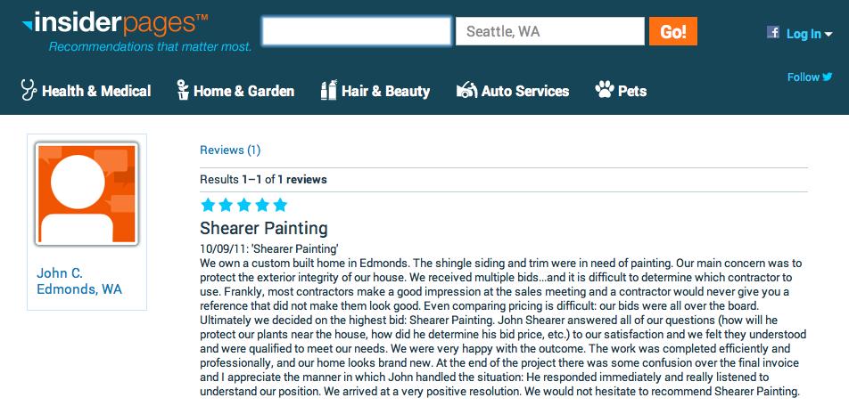 Edmonds Custom Home - Shingle Siding and Trim Repaint Review
